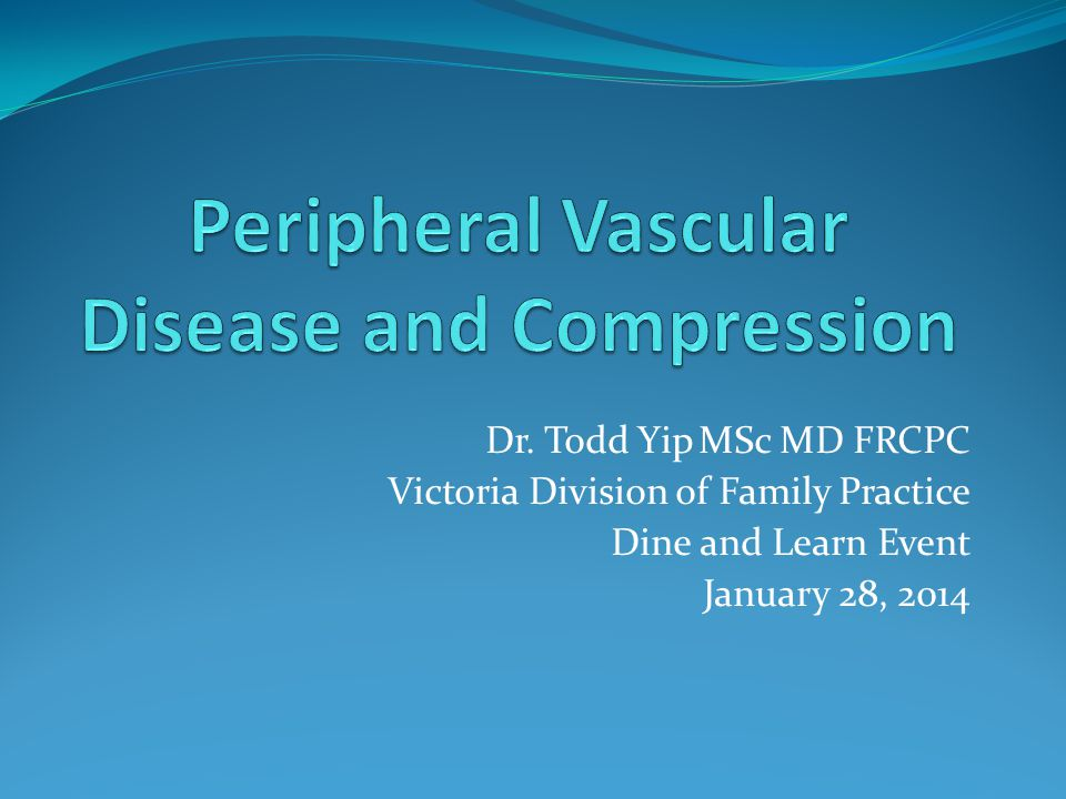 Peripheral Vascular Disease and Compression