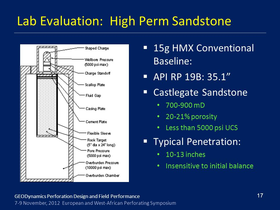 Lab Evaluation: High Perm Sandstone