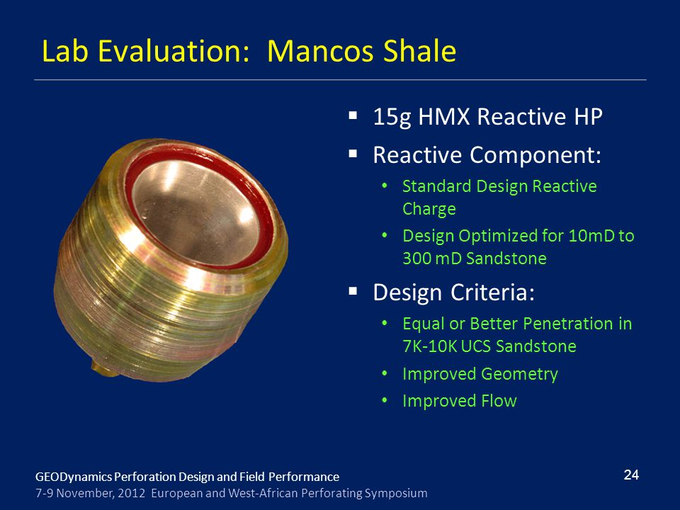 Lab Evaluation: Mancos Shale