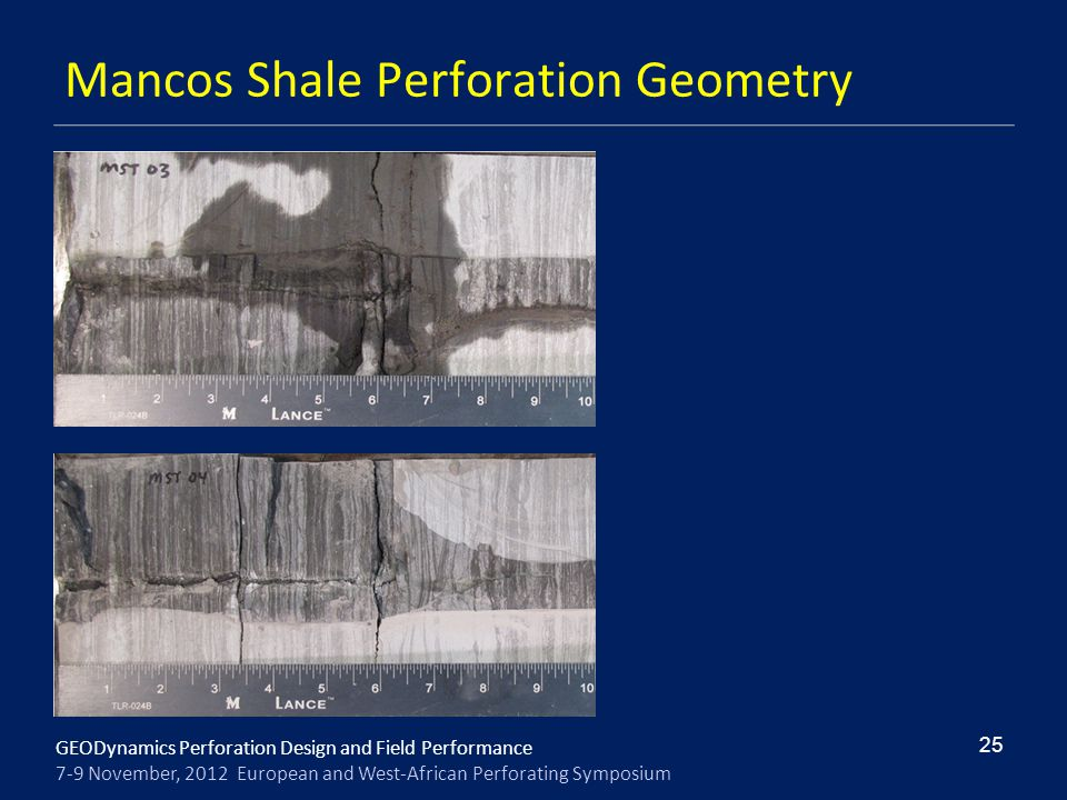 Mancos Shale Perforation Geometry