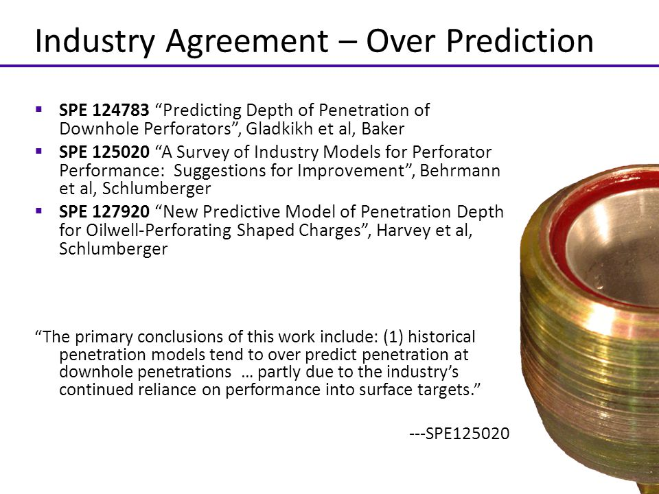Industry Agreement – Over Prediction