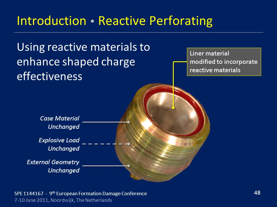 Introduction  Reactive Perforating