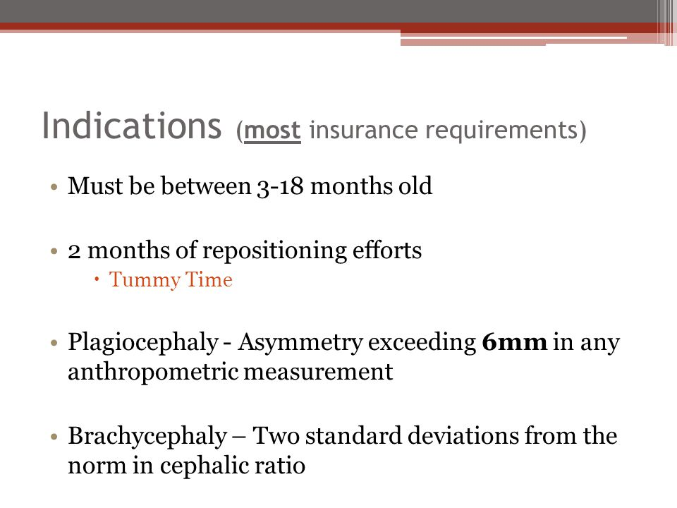 Indications (most insurance requirements)