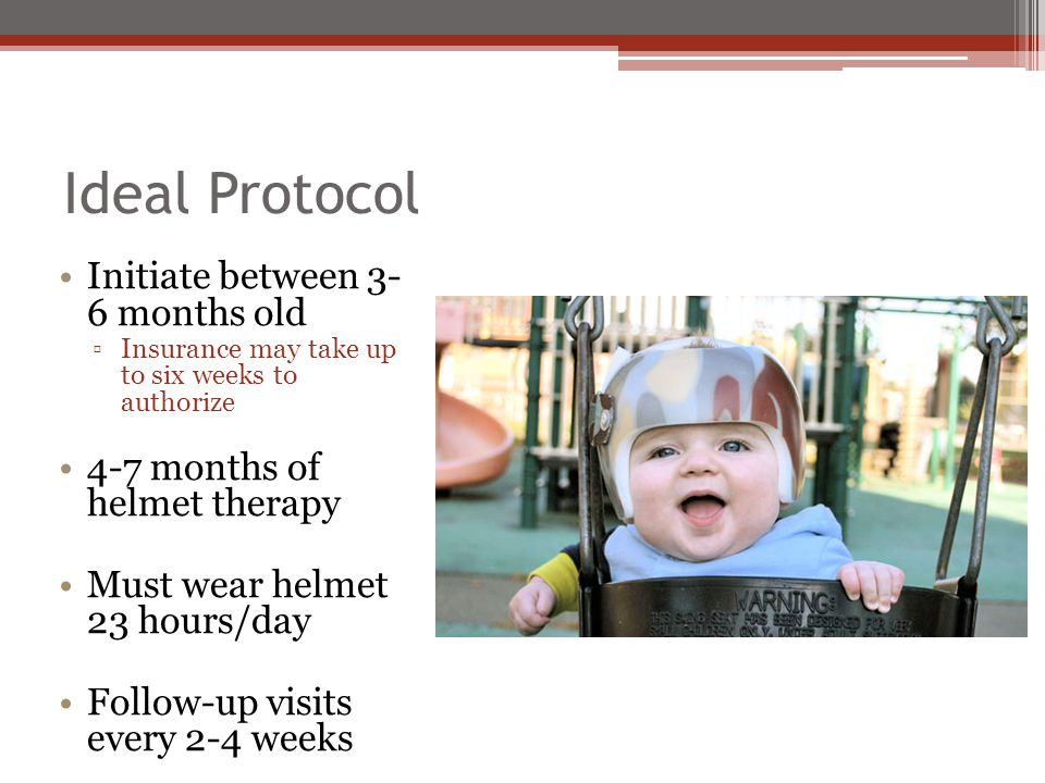Ideal Protocol Initiate between 3- 6 months old
