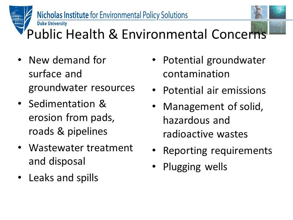 Public Health & Environmental Concerns