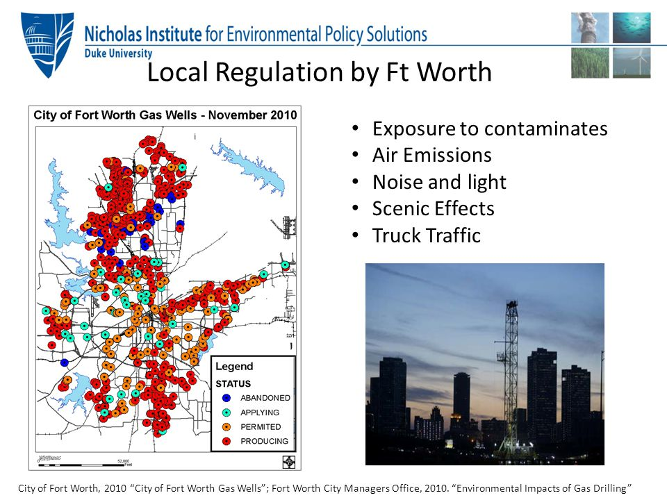 Local Regulation by Ft Worth