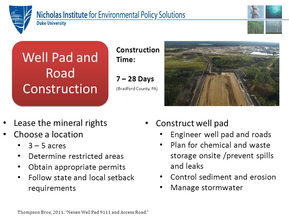 Well Pad and Road Construction