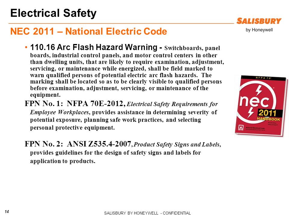 Electrical Safety NEC 2011 – National Electric Code