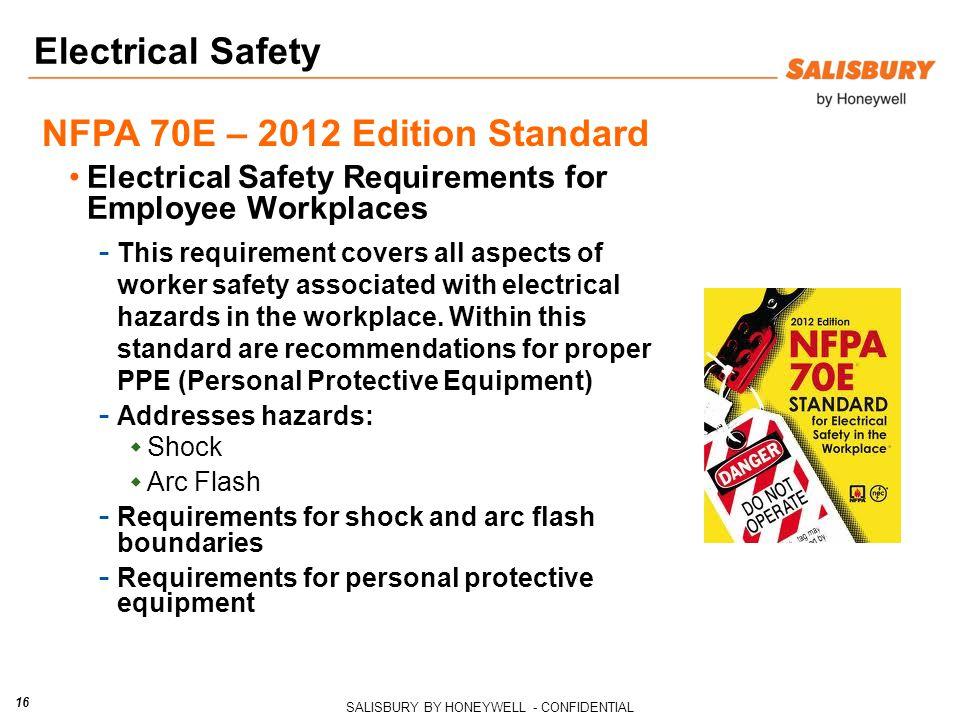 NFPA 70E – 2012 Edition Standard