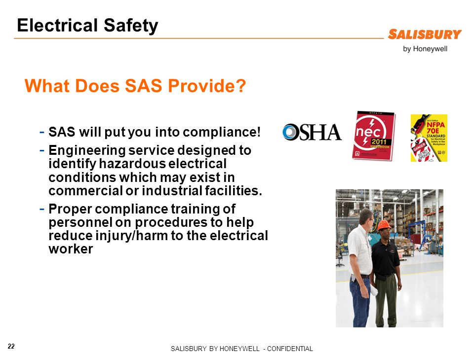 Electrical Safety What Does SAS Provide
