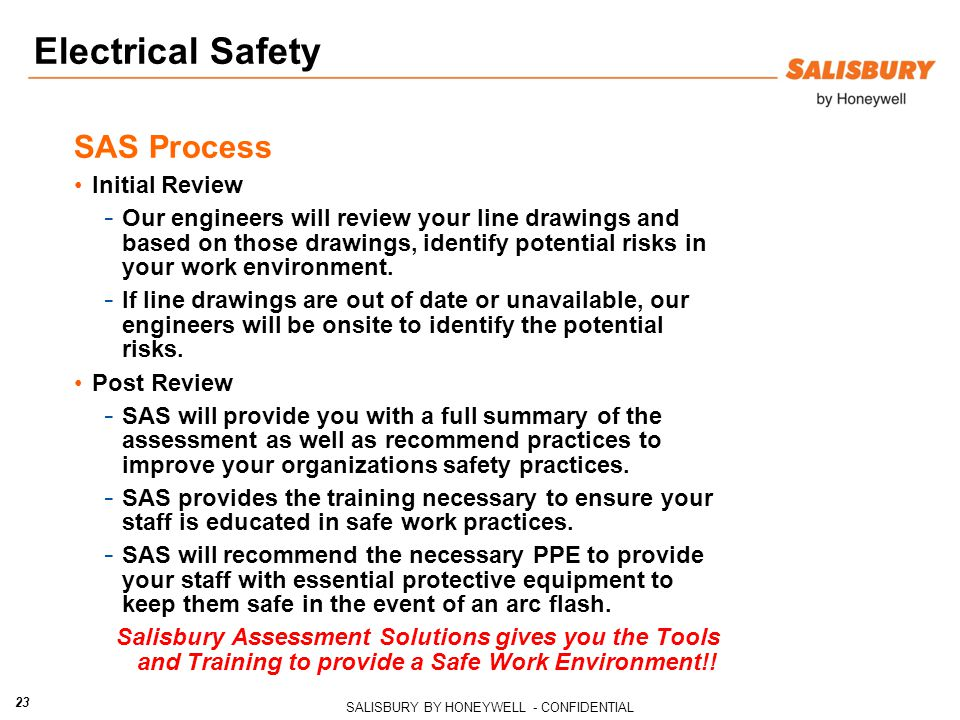 Electrical Safety SAS Process Initial Review