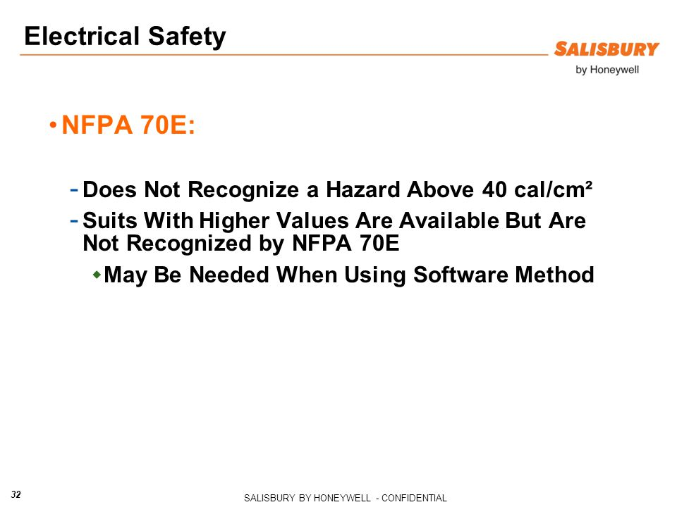 Electrical Safety NFPA 70E: