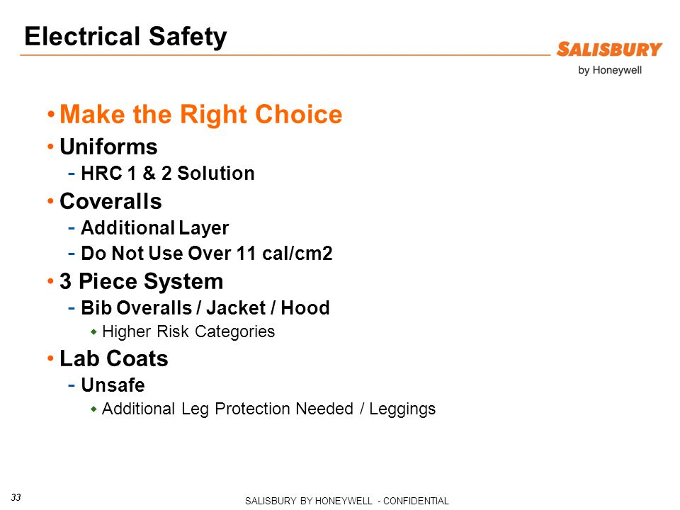 Electrical Safety Make the Right Choice Uniforms Coveralls