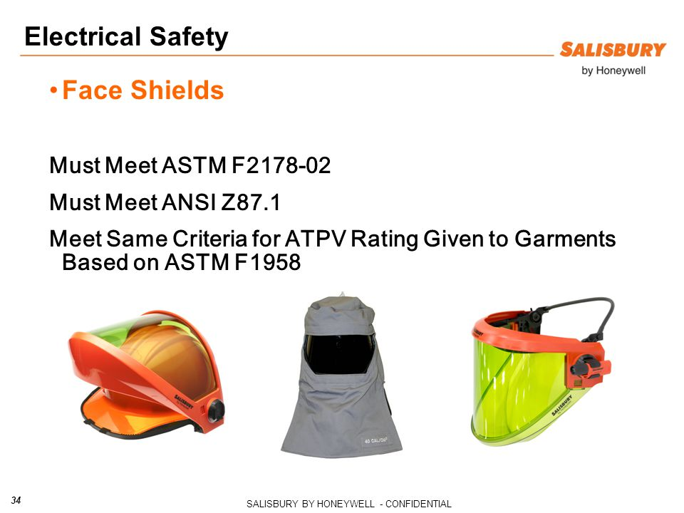 Electrical Safety Face Shields Must Meet ASTM F2178-02