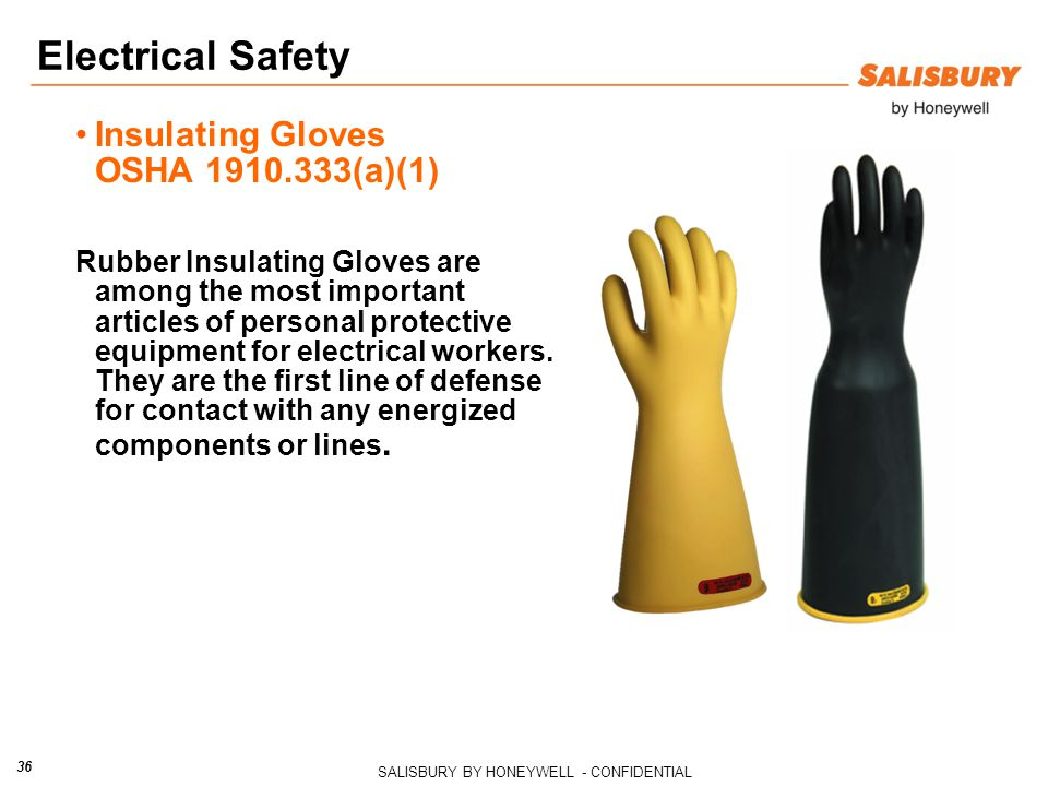 Electrical Safety Insulating Gloves OSHA 1910.333(a)(1)