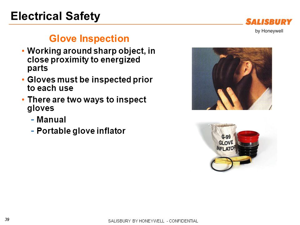 Electrical Safety Glove Inspection