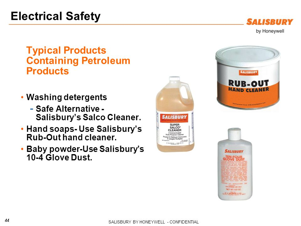 Typical Products Containing Petroleum Products