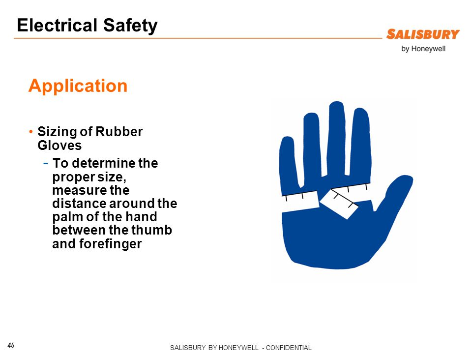 Electrical Safety Application Sizing of Rubber Gloves