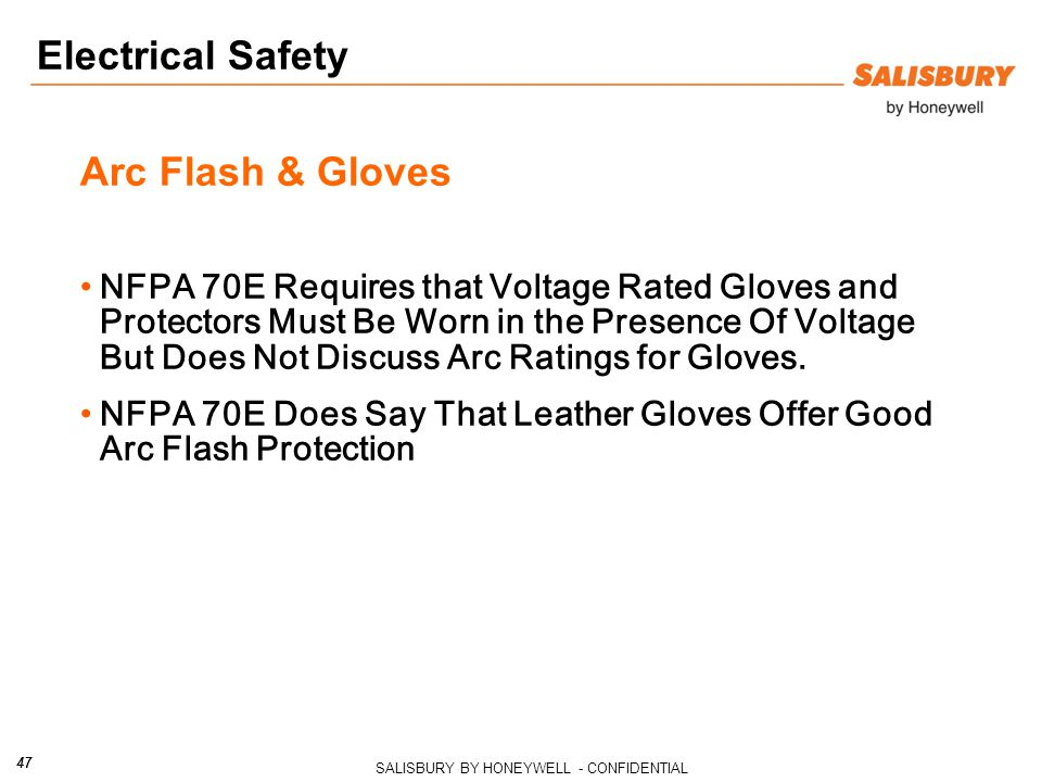 Electrical Safety Arc Flash & Gloves