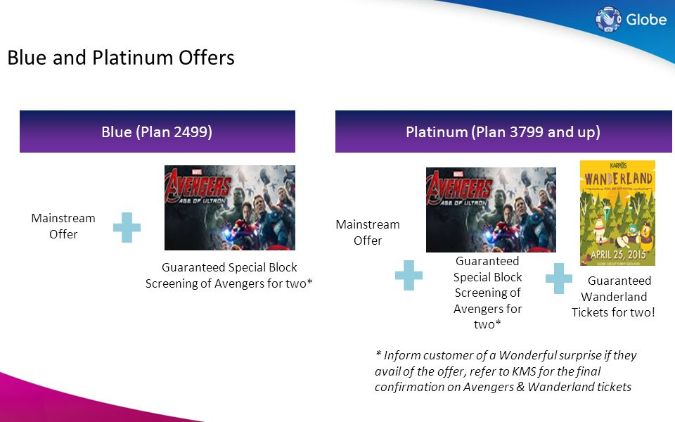 Level-up Offer for Blue and Platinum Subs!