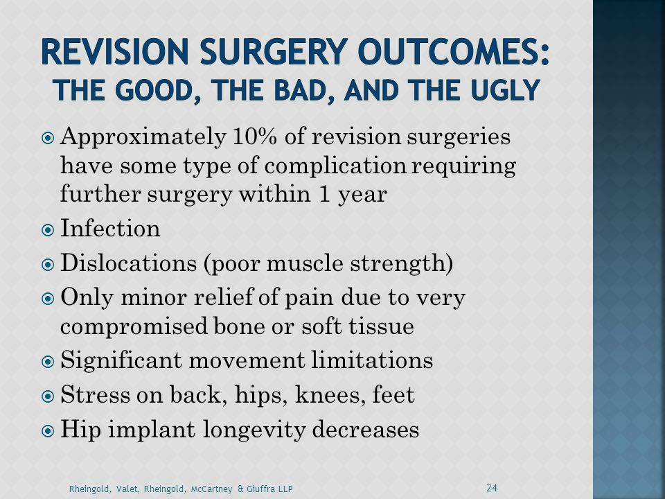 Revision SURGERY OUTCOMES: the good, the bad, and the ugly