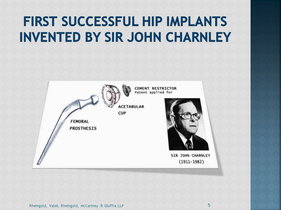 First Successful Hip Implants Invented By Sir John Charnley
