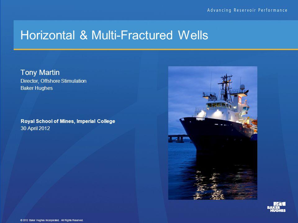Horizontal & Multi-Fractured Wells