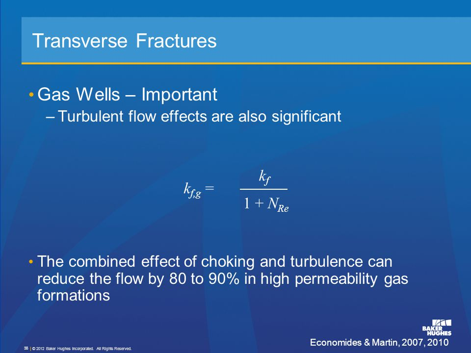 Transverse Fractures Gas Wells – Important