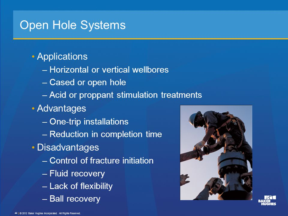 Open Hole Systems Applications Advantages Disadvantages