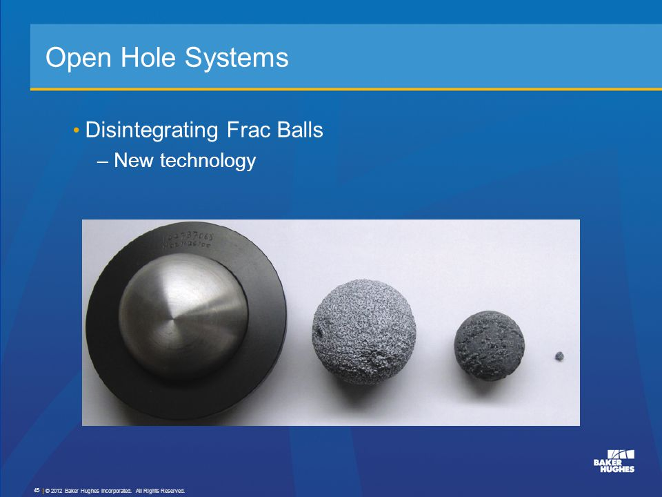 Open Hole Systems Disintegrating Frac Balls New technology