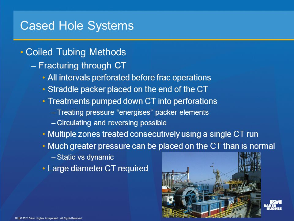 Cased Hole Systems Coiled Tubing Methods Fracturing through CT