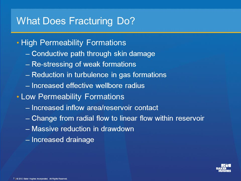 What Does Fracturing Do