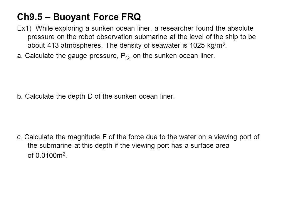 Ch9.5 – Buoyant Force FRQ