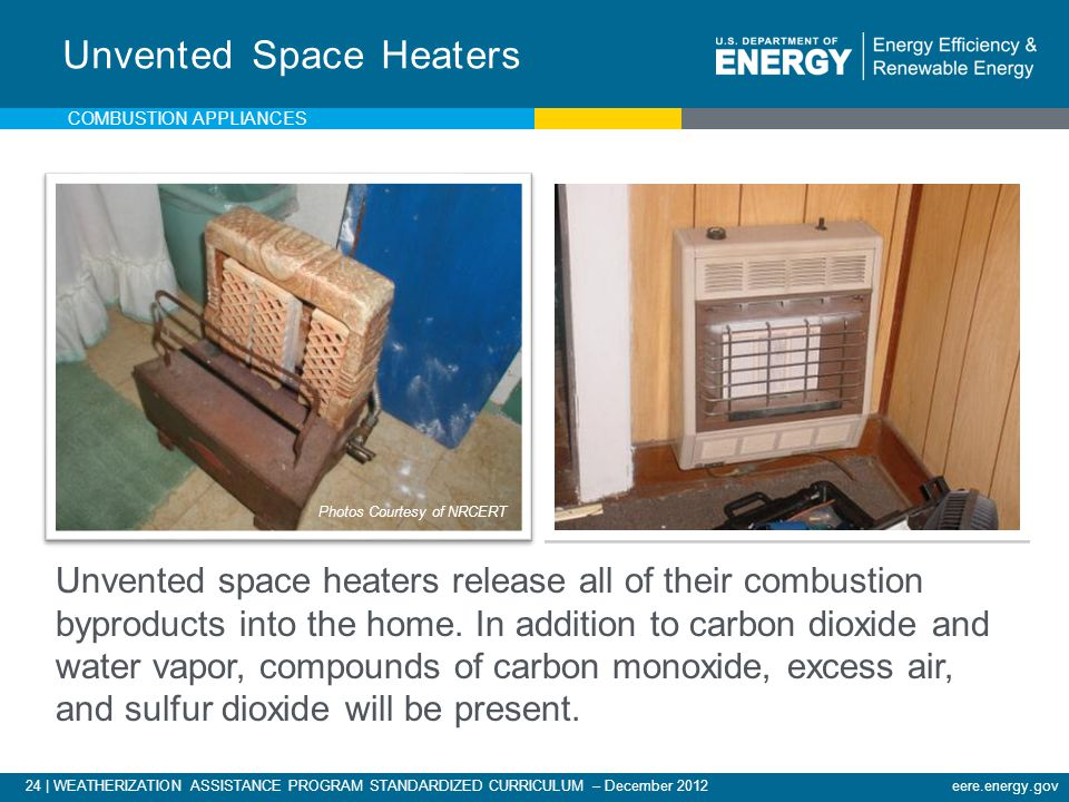 Unvented Space Heaters