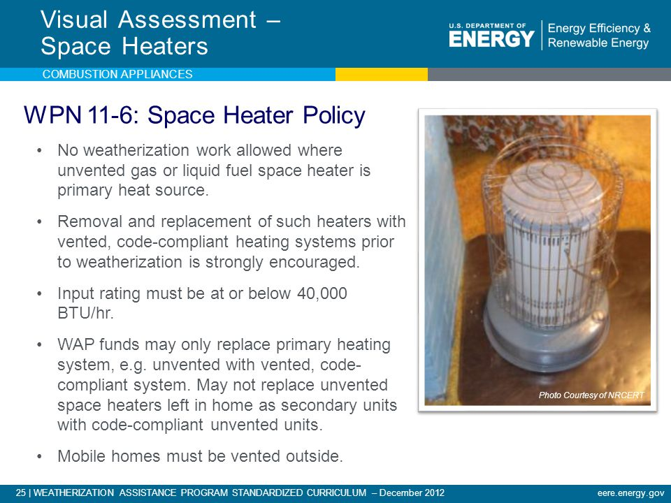 Visual Assessment – Space Heaters
