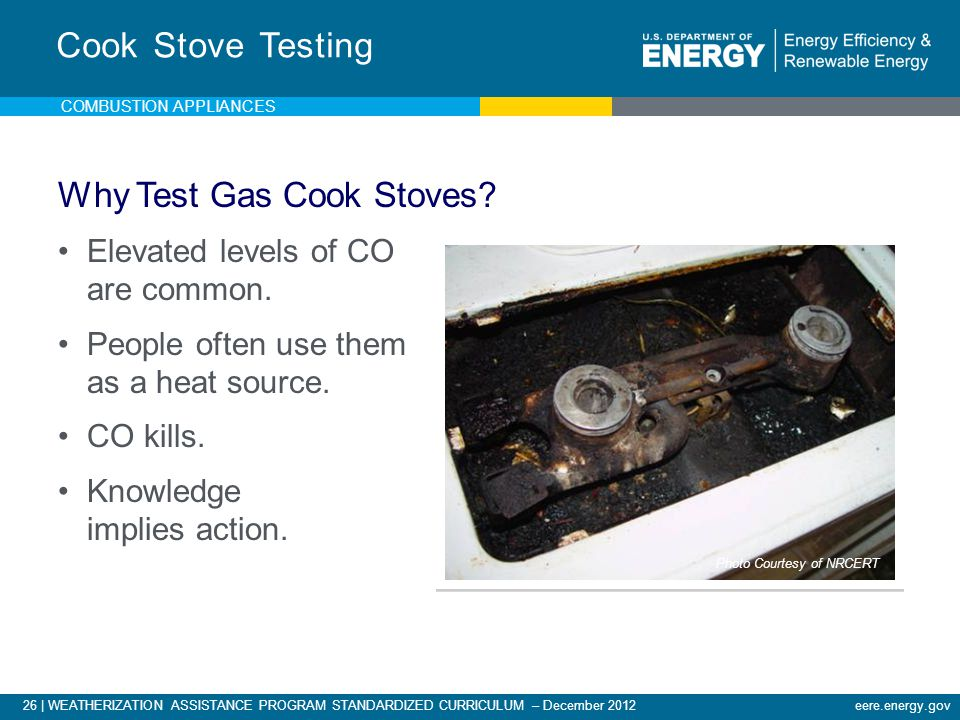 Why Test Gas Cook Stoves