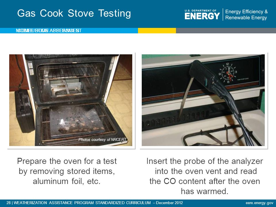 Gas Cook Stove Testing Mobile Home Assessment. Photos courtesy of NRCERT.