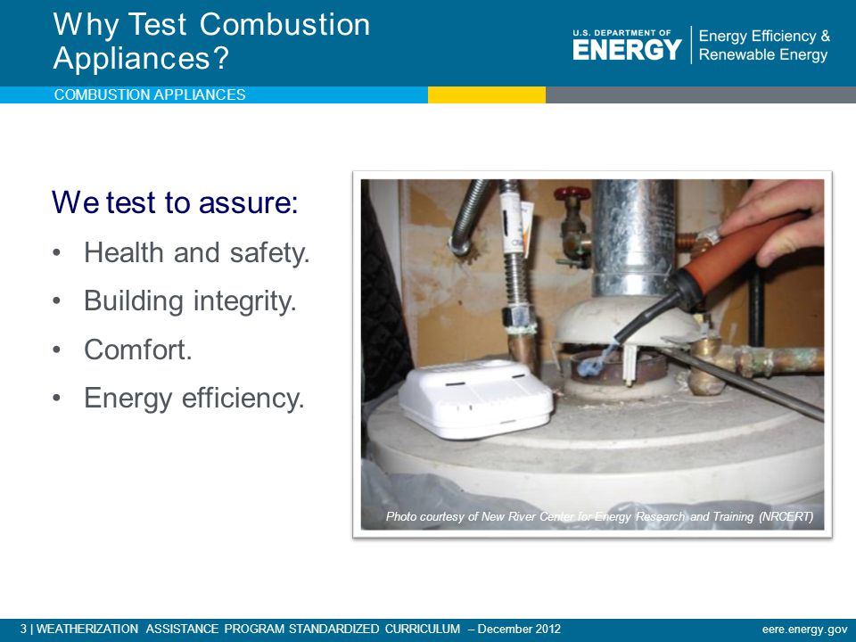 Why Test Combustion Appliances