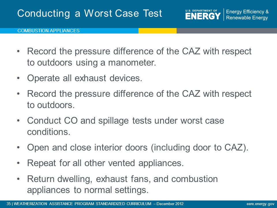 Conducting a Worst Case Test