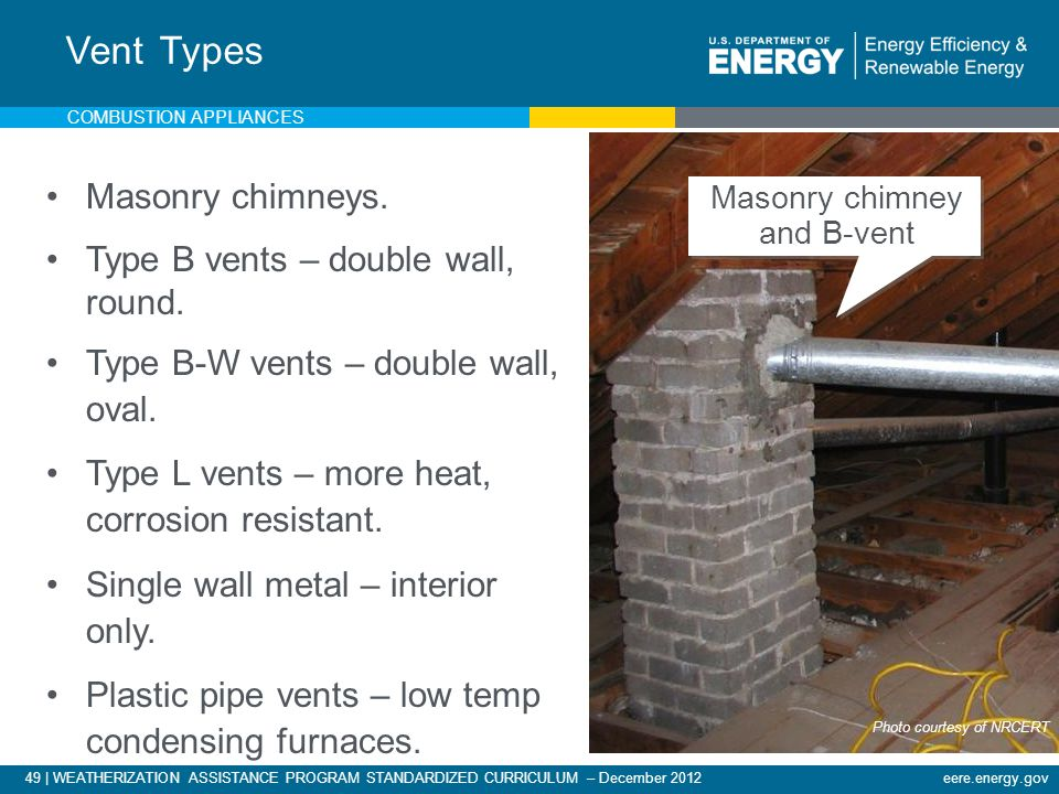 Masonry chimney and B-vent