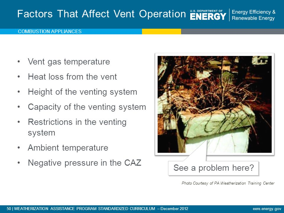 Factors That Affect Vent Operation
