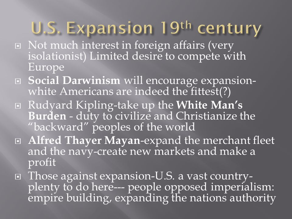 U.S. Expansion 19th century