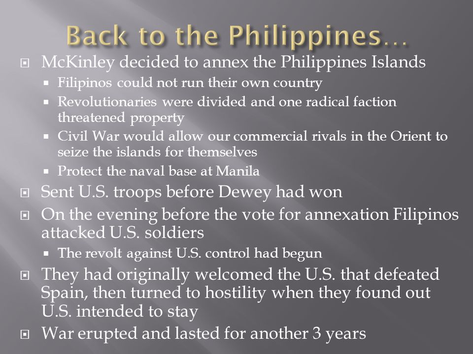 Back to the Philippines…
