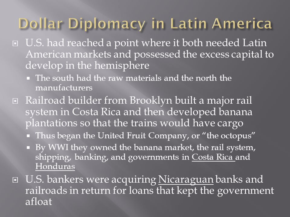 Dollar Diplomacy in Latin America