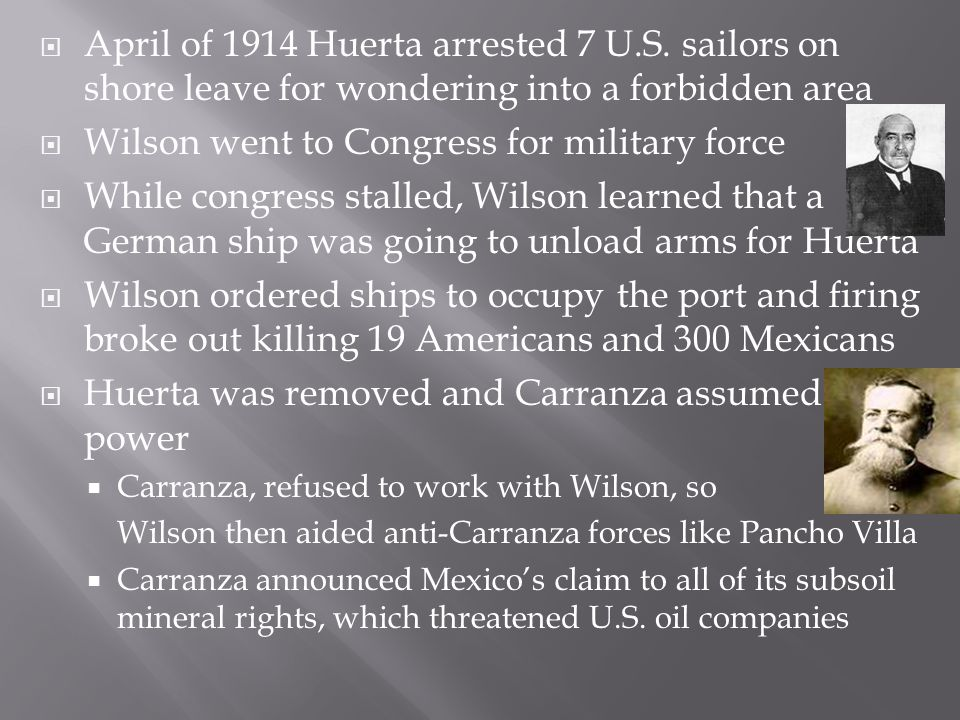 Wilson went to Congress for military force