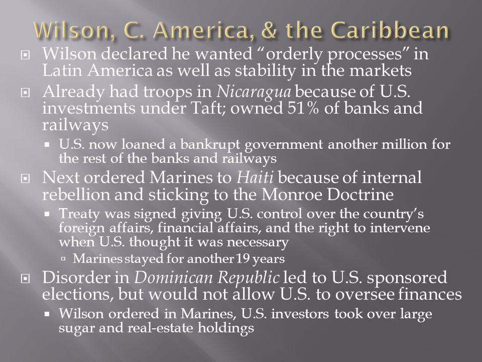 Wilson, C. America, & the Caribbean