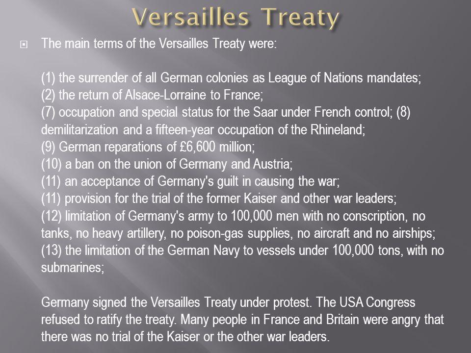 Versailles Treaty