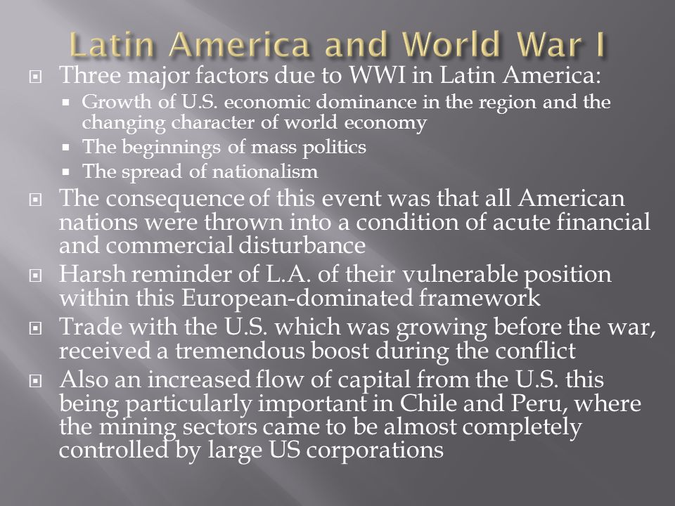 Latin America and World War I