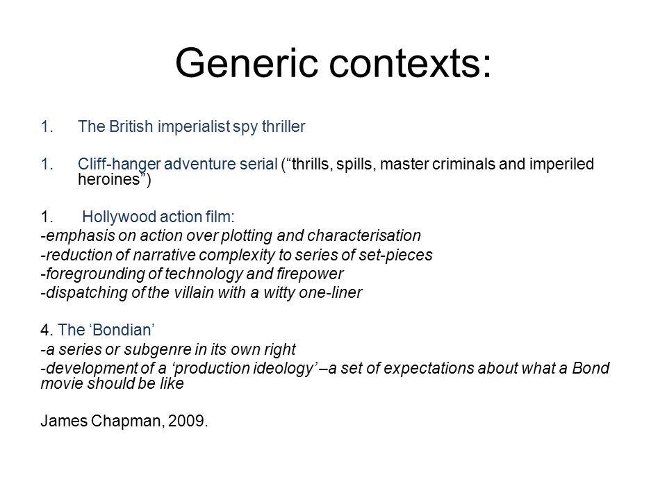 Generic contexts: The British imperialist spy thriller