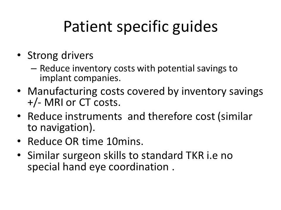 Patient specific guides